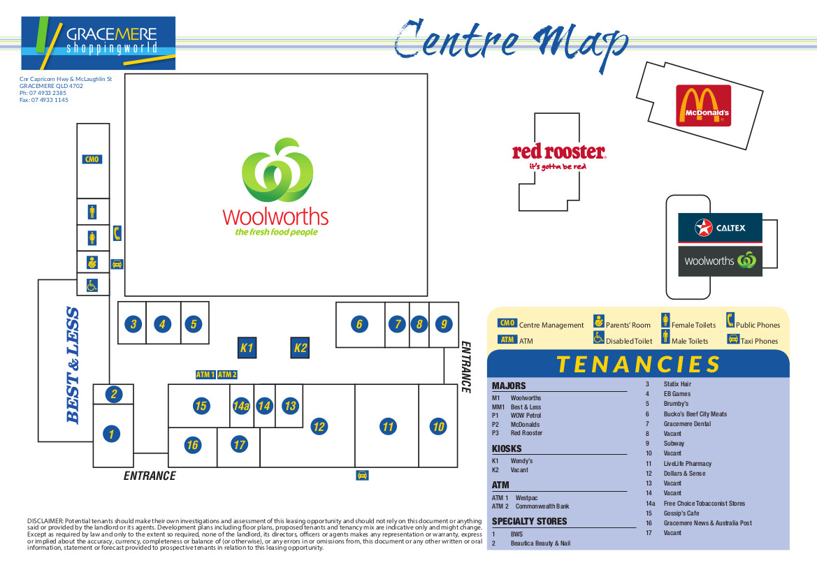 Gracemere Centre Map